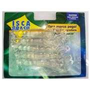 Kit com 5 Corruptos Artificiais de silicone com 8 cm cor cristal - RPC-COMMERCE