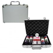 Kit Poker Profissional Super Luxo com Maleta - 200 fichas - RPC-COMMERCE