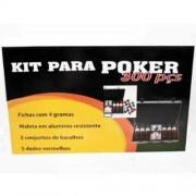 Kit Poker Profissional Super Luxo com Maleta - 300 fichas - RPC-COMMERCE