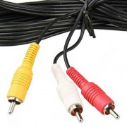 Cabo AV (RCA) áudio e vídeo para Play Station PS3, PS2, PS1 - RPC-COMMERCE