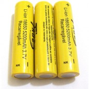 Kit com 3 Baterias Taue 18650 5200mah 3.7v Li-ion - Recarregável - RPC-COMMERCE