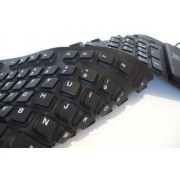Teclado de Silicone Flexível Dobrável  Usb à Prova D´aguá - RPC-COMMERCE