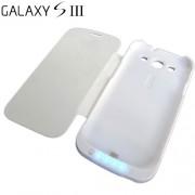 Bateria Externa Flip Cover Para Galaxy S3 i9300 5000mAh Branca - RPC-COMMERCE