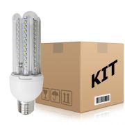 Kit 10 Lâmpadas super Led 3W Econômica Bivolt E27 Branco Quente - RPC-COMMERCE