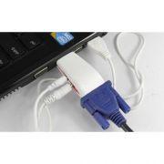 Conversor Adaptador HDMI p/ VGA Full Hd 1080P com Áudio - RPC-COMMERCE