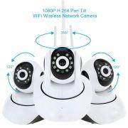 Câmera IP HD Áudio Angulo 360º Ircut 10m Noturna WiFi - RPC-COMMERCE