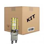 Kit 10 Lâmpadas Led Halopim G9 5W 110 V Branco Quente