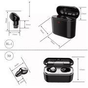 Mini Fones De Ouvido Bluetooth Headset X8 sem fio microfone - RPC-COMMERCE