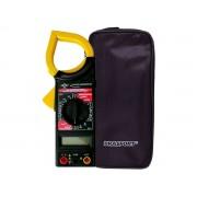 Multímetro Alicate Amperímetro Digital com alarme sonoro e estojo - RPC-COMMERCE