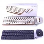 Teclado Mouse S/Fio Ultrafino 2.4ghz Wireless Usb WIFI HK3910