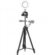 Tripé Profissíonal câmera DSLR smartphone filmadora de alumínio 1.675 m