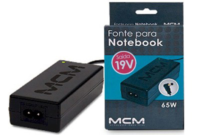 Fonte Para Notebook 19V  3.42A 65W Bivolt - RPC-COMMERCE