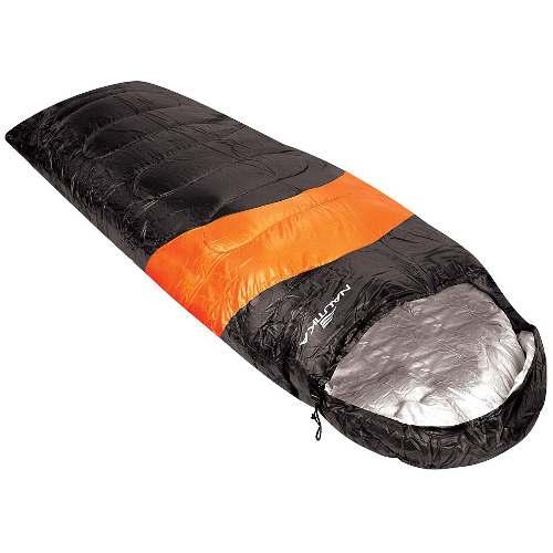 Saco de Dormir para Camping Viper Preto e Laranja 5 a 12°C - RPC-COMMERCE