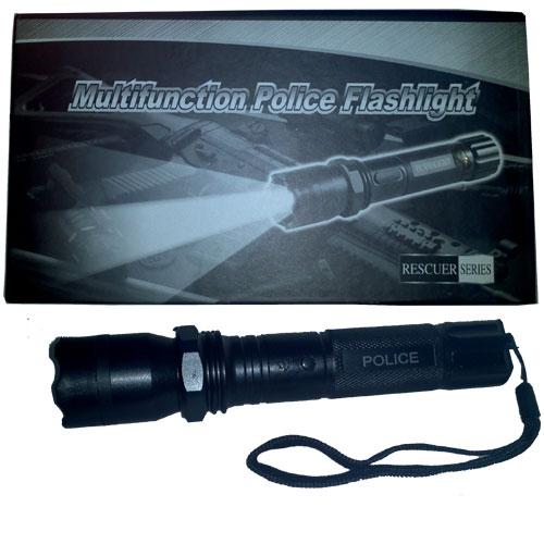 Lanterna Led tática police com taser recarregável 1000 kv - RPC-COMMERCE