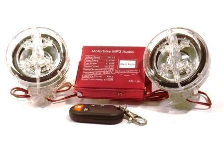 Alarme, rádio FM e Som Mp3 (SD e USB) com controle para Moto - RPC-COMMERCE