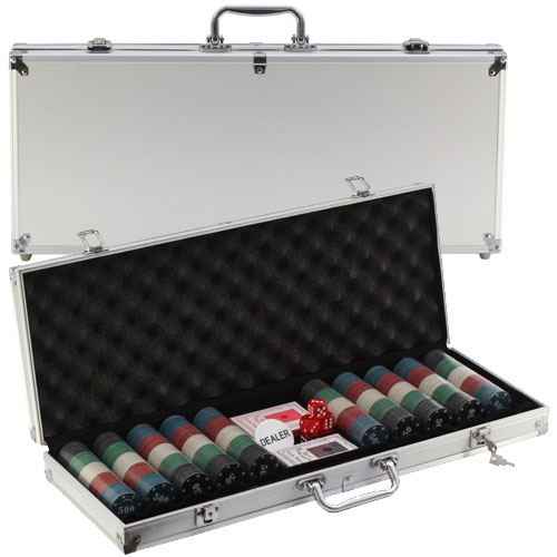 Kit Poker Profissional Super Luxo com Maleta - 500 fichas - RPC-COMMERCE