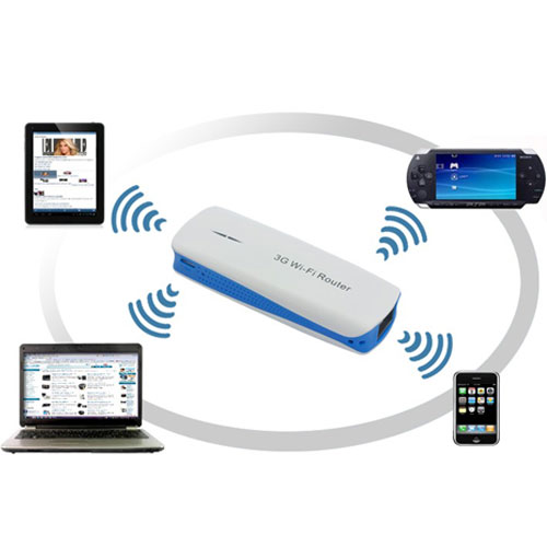 Mini roteador Wireless 3G/4G Portátil recarregável 150mbps - RPC-COMMERCE