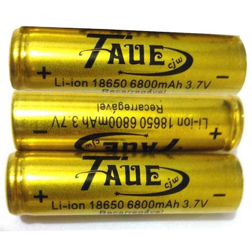 Kit com 3 Baterias Taue 18650 8200mah 3.7v Li-ion - Recarregável - RPC-COMMERCE