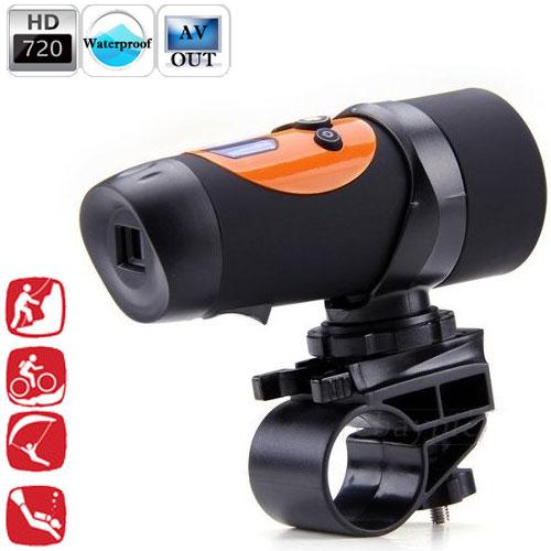 Câmera Filmadora Prova D´Água Capacete Bicicleta Moto Espiã HD - RPC-COMMERCE