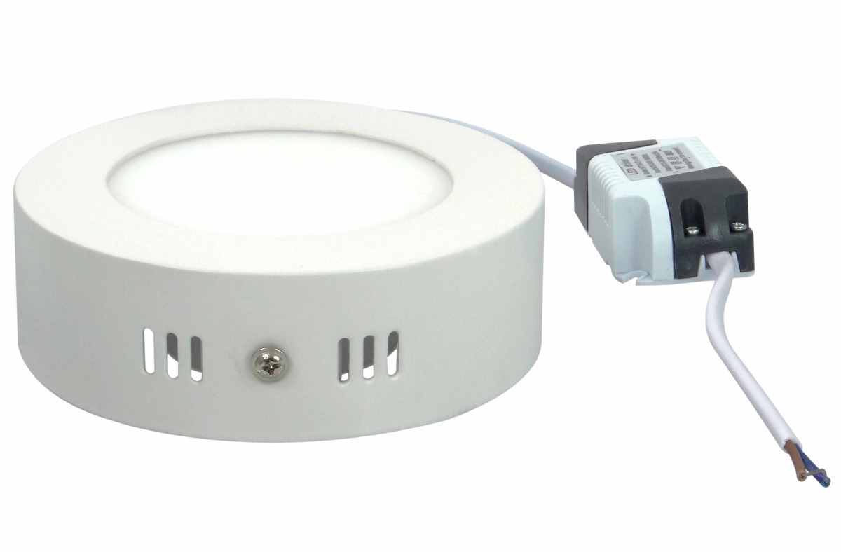 Painel Plafon Redondo Luminária Sobrepor Led 6w Bivolt Branco Frio - RPC-COMMERCE