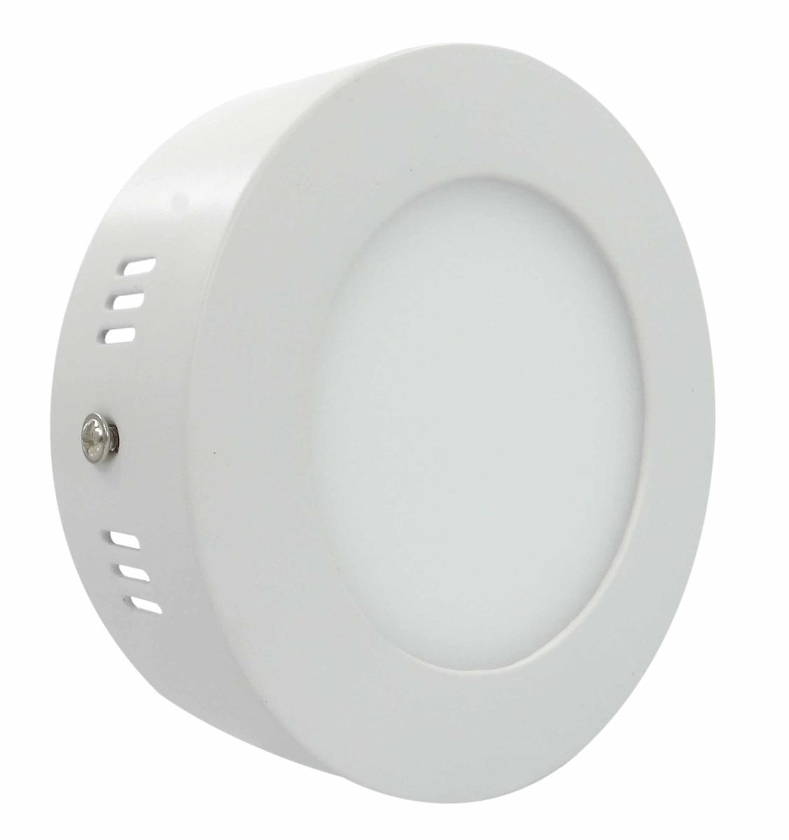 Painel Plafon Redondo Luminária Sobrepor Led 6w Bivolt Branco Quente - RPC-COMMERCE