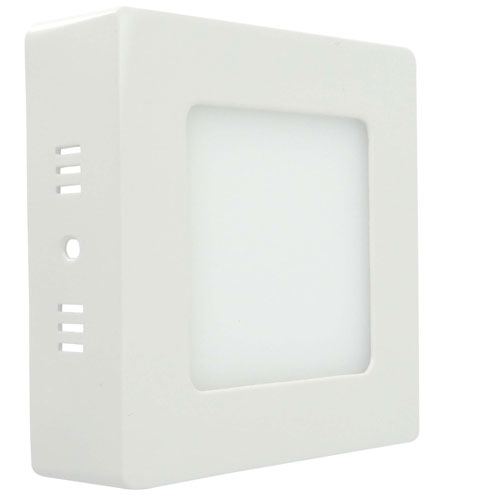 Painel Plafon Quadrado Luminária Sobrepor Led 6w Bivolt Branco Frio - RPC-COMMERCE