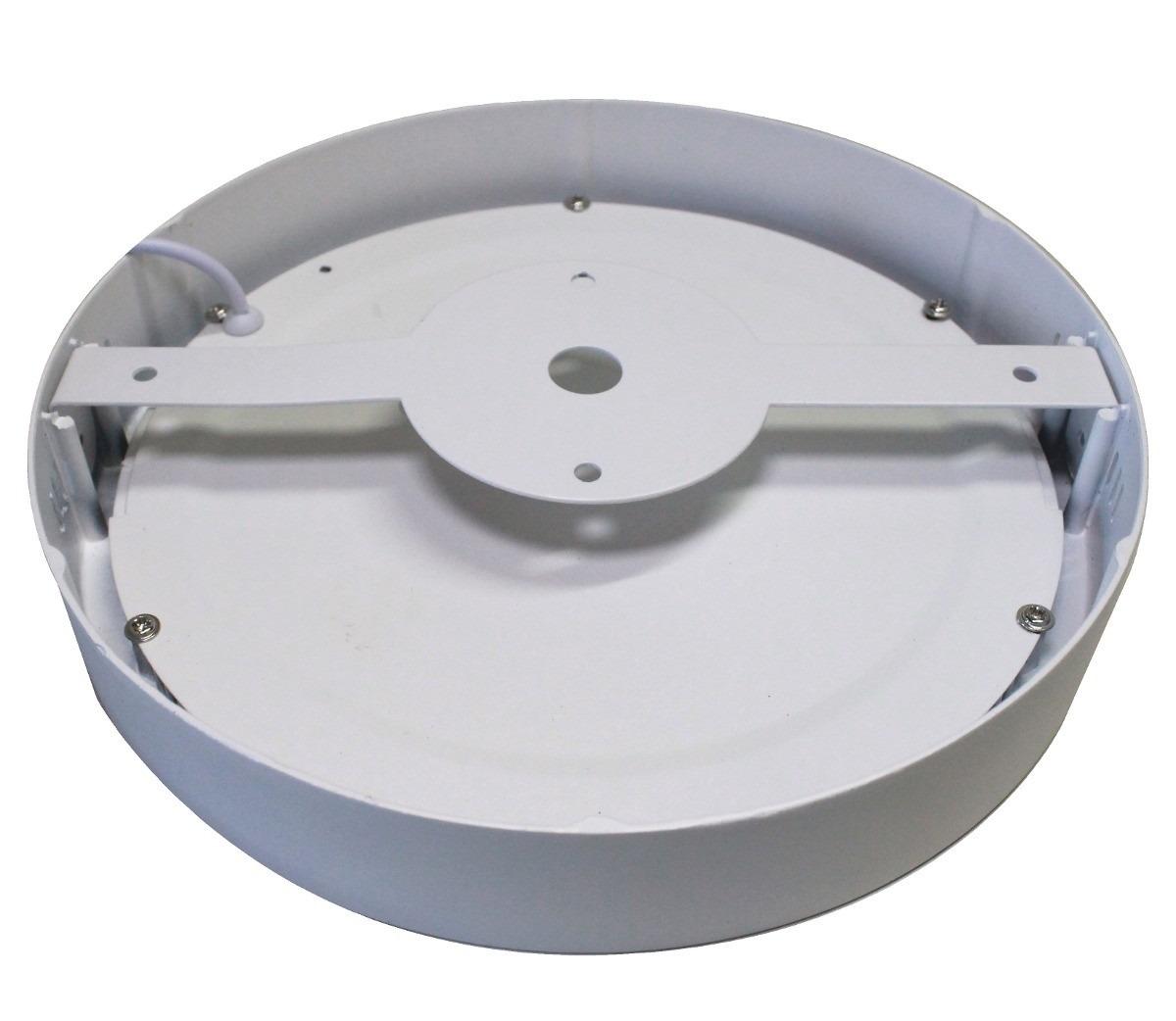Kit 10 Painel Plafon Redondo Luminária Sobrepor Led 18w Bivolt Branco Quente - RPC-COMMERCE