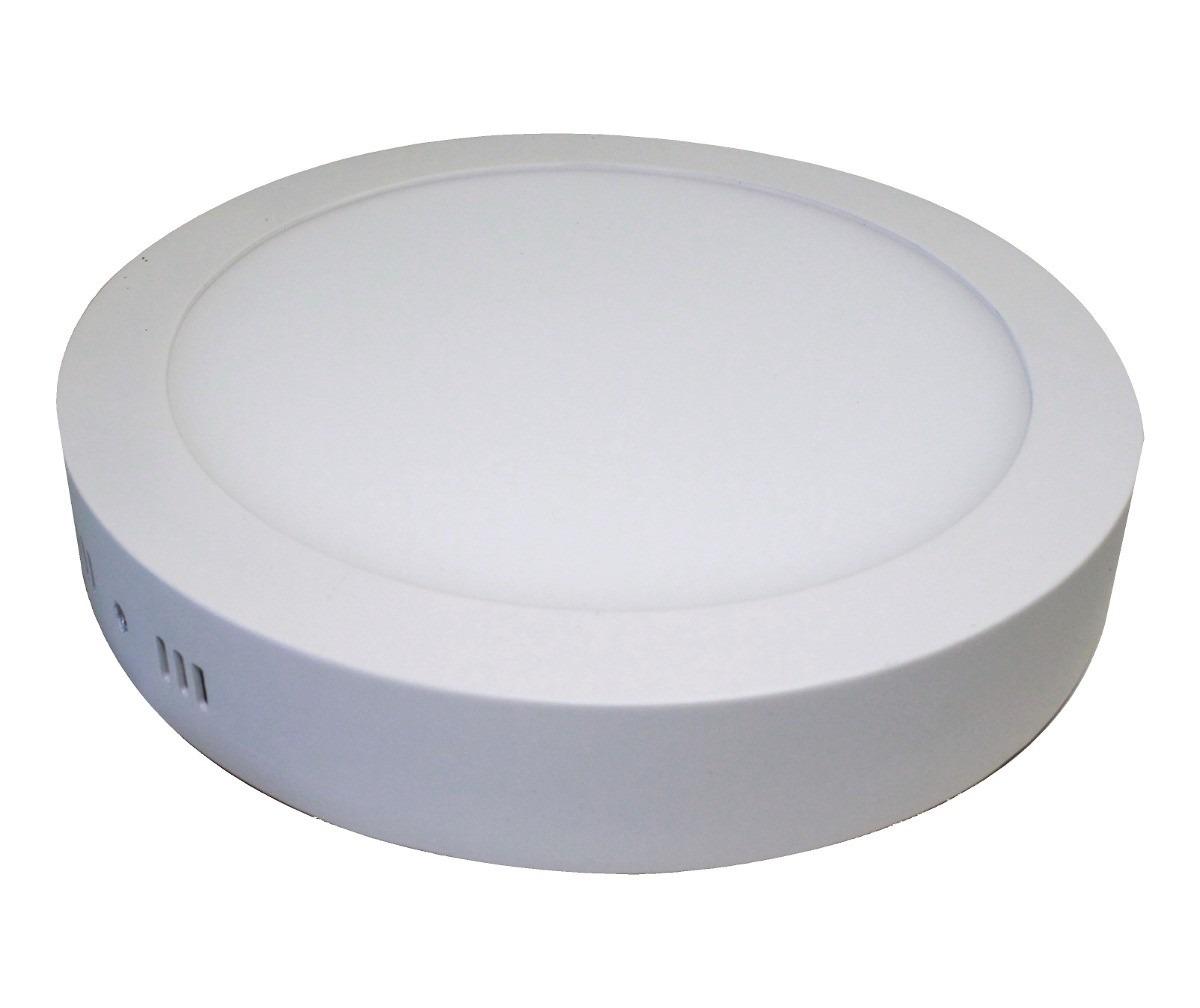 Kit 10 Painel Plafon Redondo Luminária Sobrepor Led 24W Bivolt Branco Frio - RPC-COMMERCE