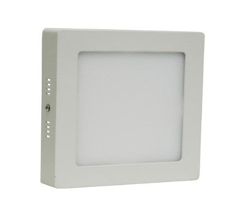 Painel Plafon Quadrado Luminária Sobrepor Led 18w Bivolt Branco Quente - RPC-COMMERCE