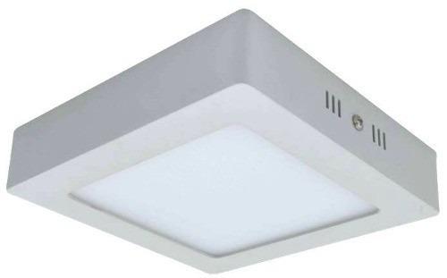 Kit 10 Painel Plafon Quadrado Luminária Sobrepor Led 18W Bivolt Branco Quente - RPC-COMMERCE