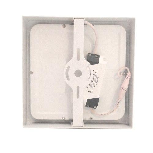 Kit 10 Painel Plafon Quadrado Luminária Sobrepor Led 12W Bivolt Branco Quente - RPC-COMMERCE