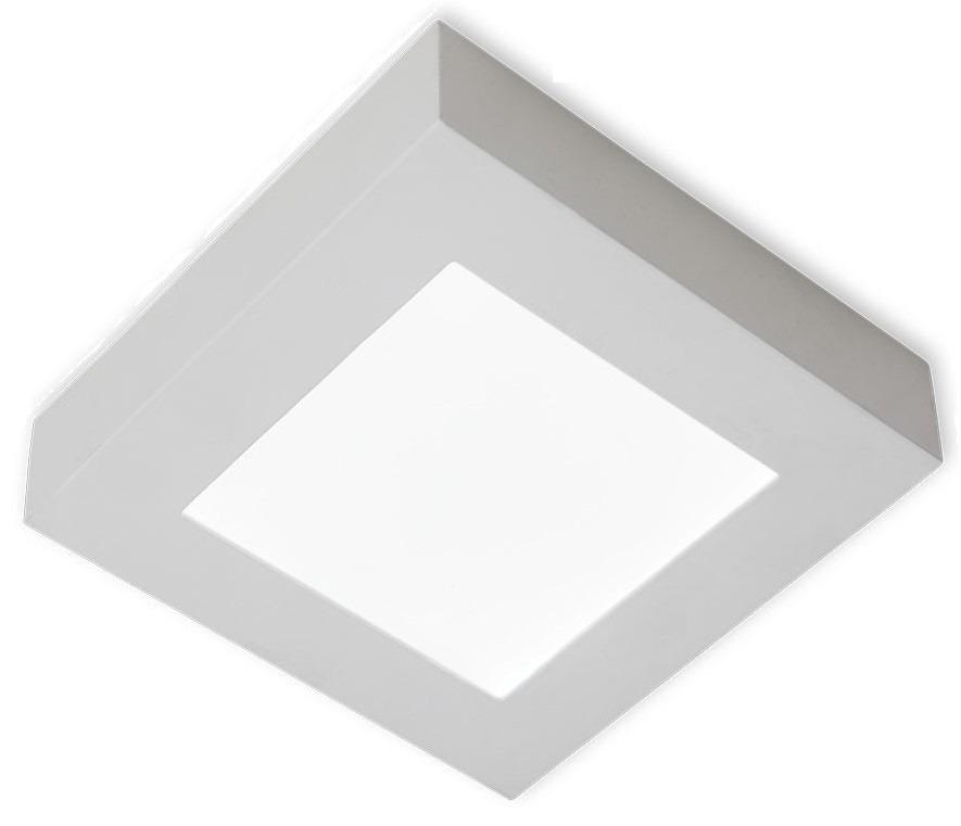 Kit 10 Painel Plafon Quadrado Luminária Sobrepor Led 6w Bivolt Branco Frio - RPC-COMMERCE