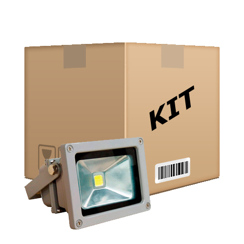 Kit 10 Refletores De Led Holofote Branco Frio 10w IP65 Bivolt - RPC-COMMERCE