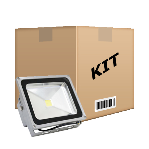 Kit 10 Refletor De Led Holofote Branco Frio 20w IP65 Bivolt - RPC-COMMERCE