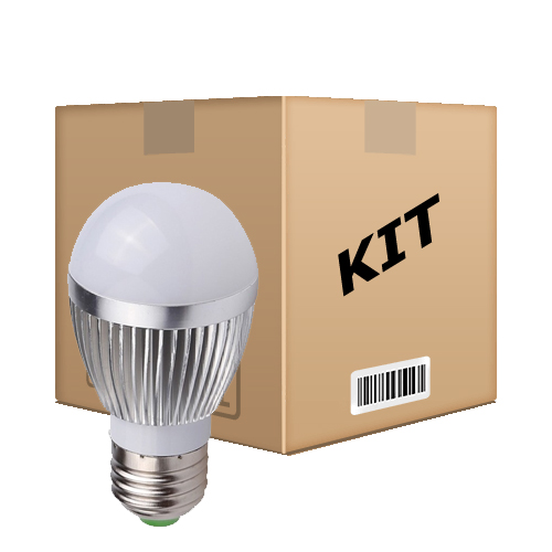 Kit 10 Lâmpadas Led Superled 12W Bulbo Bivolt E27 Branco Frio - RPC-COMMERCE