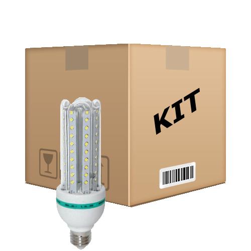 Kit 10 Lâmpadas Super Led 16W Econômica Bivolt E27 Branco Quente - RPC-COMMERCE