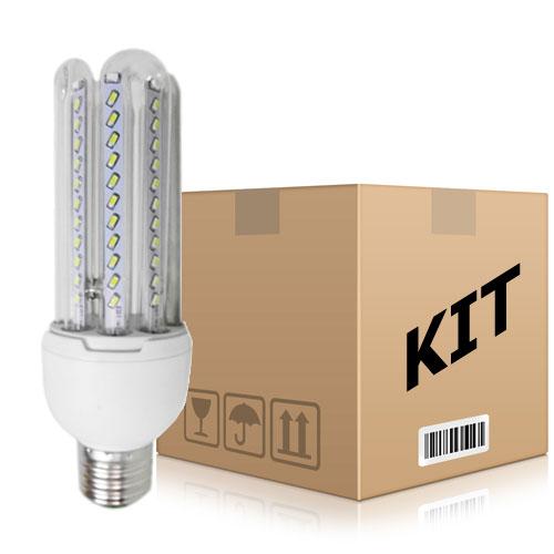 Kit 10 Lâmpadas Super Led 12W Econômica Bivolt E27 Branco Quente - RPC-COMMERCE