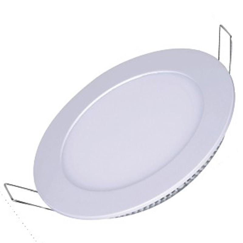 Painel Plafon Redondo Luminária Embutir Led 12w Bivolt Branco Frio - RPC-COMMERCE