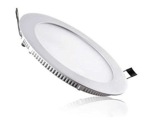 Kit 10 Painel Plafon Redondo Luminária Embutir Led 24W Bivolt Branco Quente - RPC-COMMERCE