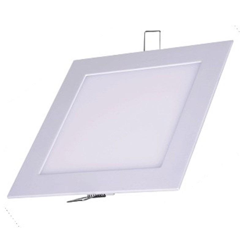Painel Plafon Quadrado Luminária Embutir Led 12w Bivolt Branco Frio - RPC-COMMERCE