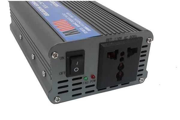 Inversor de tensão p/ auto 12 VDC para 110V AC 1000W - RPC-COMMERCE