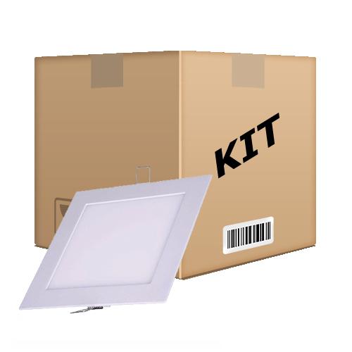 Kit 10 Painel Plafon Quadrado Luminária Embutir Led 24W Bivolt Branco Quente - RPC-COMMERCE