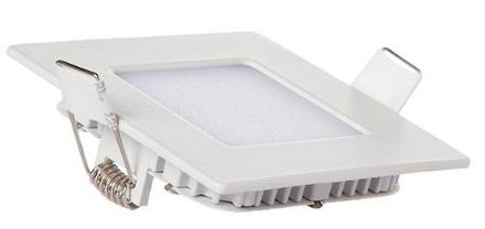 Painel Plafon Quadrado Luminária Embutir Led 6w Bivolt Branco Frio - RPC-COMMERCE