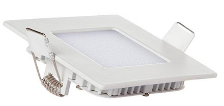 Kit 10 Painel Plafon Quadrado Luminária Embutir Led 6w Bivolt Branco Frio - RPC-COMMERCE