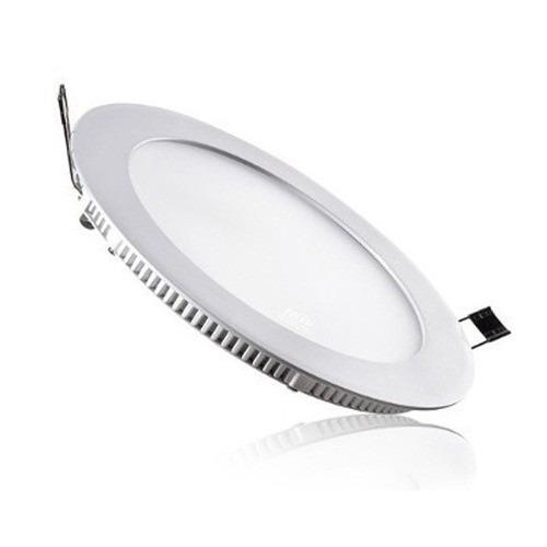 Painel Plafon Redondo Luminária Embutir Led 12w Bivolt Branco Quente - RPC-COMMERCE