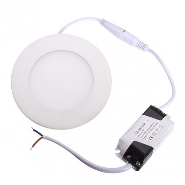 Painel Plafon Redondo Luminária Embutir Led 6w Bivolt Branco Quente - RPC-COMMERCE