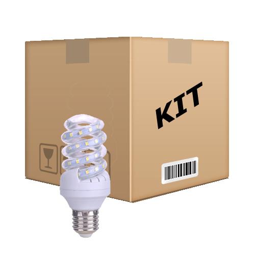 Kit 10 Lâmpadas Led Espiral 5w Econômica  E27 Bivolt Branco Quente - RPC-COMMERCE