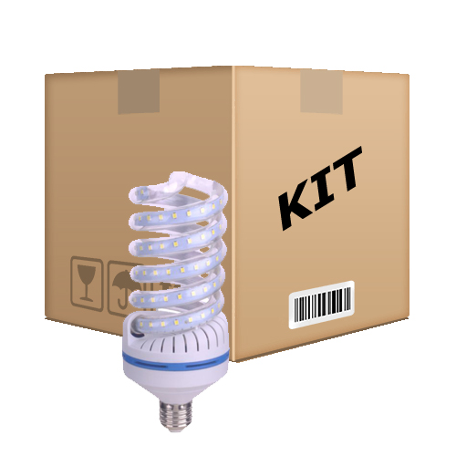 Kit 10 Lâmpadas Led Espiral 16w Econômica E27 Bivolt Branco Quente - RPC-COMMERCE