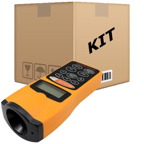 Kit 10 Trena Eletrônica Digital Ultra-sônica Com Mira Laser Até 18m - RPC-COMMERCE