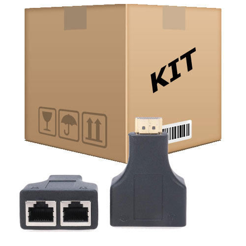 Kit 6 Extensores Hdmi 3D Via Cabo De Rede UTP RJ45 Cat5e/6 - RPC-COMMERCE